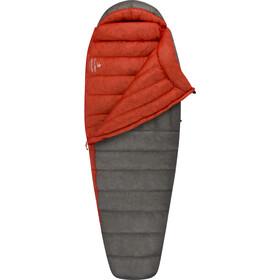 Sea to Summit Flame Fm IV Sleeping Bag Regular Women dark grey/paprika